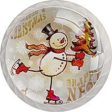 Snowman with Christmas Tree, 4Pack ABS Dresser