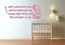 Snug Bug Rug Kids Wall Art Sticker Quote Decal