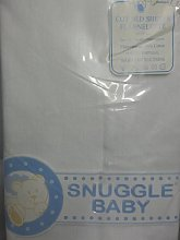 Snuggle baby Cot Bed flannette cotton sheets 2pack