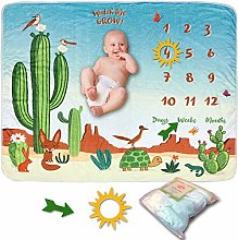 SnuggyBug Baby Monthly Milestone Blanket - Large