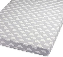Snuz Cotbed Fitted Sheet - Cloud