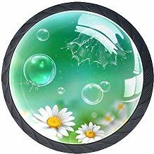 Soap Bubbles Chamomile Cabinet Door Knobs Handles