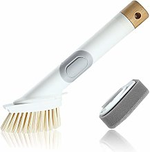 Soap Dispensing Dish Brush,Scrub Kitchen Brush for