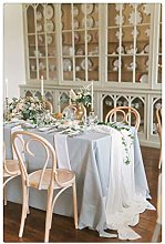 "SoarDream 27""x120"" White Chiffon Table"
