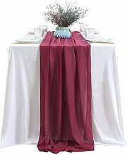 SoarDream 5 Pieces of 27x120 Inches Burgundy Table