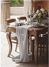 SoarDream Chiffon Table Runner Grey
