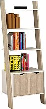 SoBuy® 3 Shelves 1 Cabinet Wall Shelf Ladder