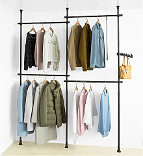 SoBuy Adjustable Wardrobe Organiser Clothes