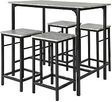 SoBuy Bar High table and 4 Stools, Home Kitchen