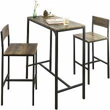 SoBuy Bar Set-1 Bar Table and 2 Stools,Bar Set