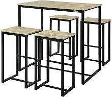 SoBuy Bar Set-1 Bar Table and 4 Stools, Home