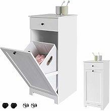 SoBuy® BZR21-W, White Bathroom Laundry Basket