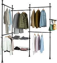 SoBuy Clothes Racks Adjustable Wardrobe Organiser
