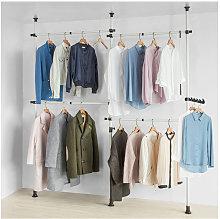 SoBuy Clothes Racks Telescopic Wardrobe Organiser