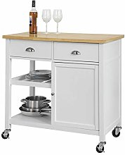 SoBuy® FKW62-WN, Kitchen Storage Trolley Serving