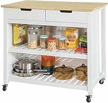 SoBuy® FKW74-WN, Kitchen Storage Trolley Kitchen