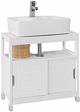 SoBuy® FRG128-W, White Under Sink Bathroom