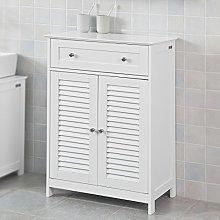 SoBuy® FRG238-W, White Free Standing Double