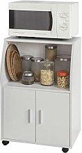 SoBuy® FRG241-W, Microwave Shelf, Kitchen Wheeled