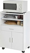 SoBuy® FSB09-W, Microwave Shelf, Kitchen Wheeled
