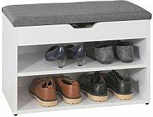 SoBuy® FSR25-HG, 2 Tiers Shoe Rack Shoe Cabinet