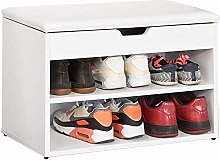 SoBuy FSR25-W, 2 Tiers Shoe Rack Shoe Cabinet Shoe