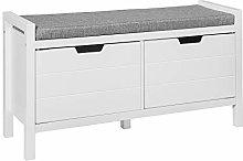 SoBuy® FSR63-W, Shoe Bench Shoe Rack Shoe Cabinet