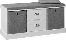 SoBuy Hallway Shoe Storage Bench Cabinet with 2