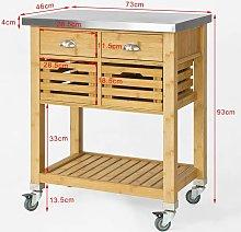 SoBuy Kitchen Serving Trolley Cart Storage
