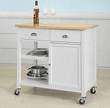 SoBuy Kitchen Storage Serving Cabinet with Wood