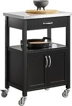 SoBuy Kitchen Trolley with Stainless Steel Top,