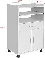 SoBuy Kitchen Wheeled Microwave Shelf,Storage