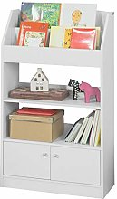 SoBuy® KMB11-W, Children Kids Bookcase Book Shelf