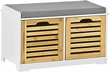 SoBuy® Storage Bench with 2 Drawers & Seat