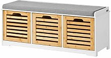 SoBuy® Storage Bench with 3 Drawers & Seat