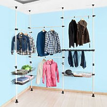 SoBuy Telescopic Wardrobe Organiser Clothes Rack,