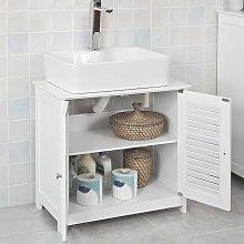 SoBuy Under Sink Bathroom Storage Cabinet with Shutter Doors,FRG237-W