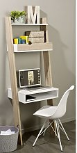 SoBuy Wall Ladder Bookcases and Shelving Unit with
