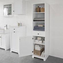 SoBuy White Floor Standing Tall Bathroom Storage