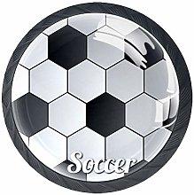 Soccer Background Cabinet Door Knobs Handles Pulls