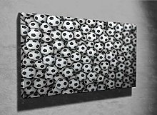 Soccer Balls 3D Photo Canvas Print (44444993) 3D