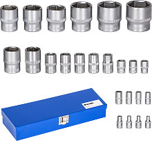 Socket set 24 pieces - blue