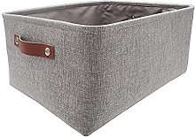 SOCOHOME Grey Storage Baskets, Thickened Canvas