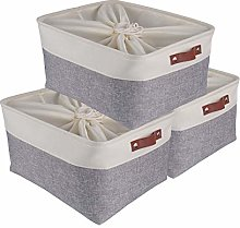 SOCOHOME Large Collapsible Storage Boxes- Set of 3