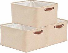 SOCOHOME Large Storage Boxes- Set of 3 Canvas