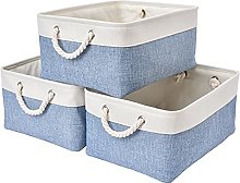 SOCOHOME Set of 3 Storage Baskets, Thickened