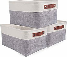 SOCOHOME Small Foldable Storage Boxes- Set of 3