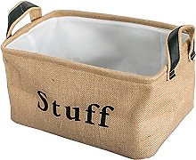 SOCOHOME Toy Storage Basket, Thickened Jute Fabric