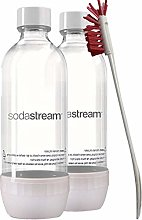 Sodastream 2 Pack White Premium Soda Water Bottles
