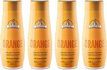 SodaStream Classics Orange Syrup, Pack of 4